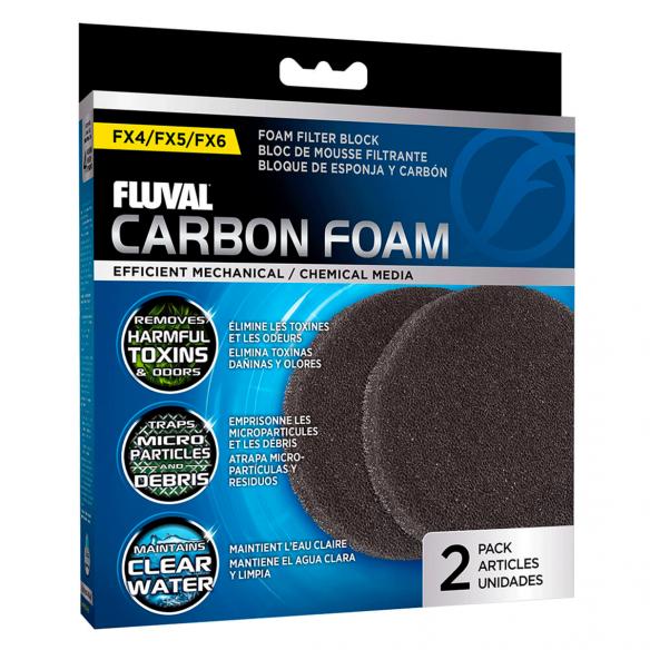Foamex de carbón activo fluval fx